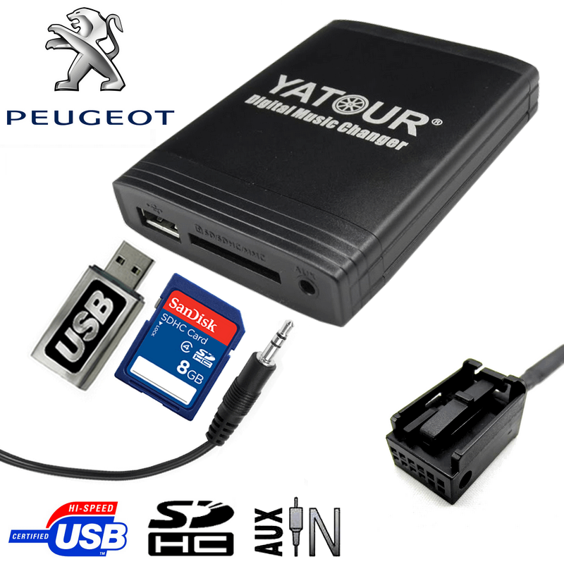 peugeot  interface usb mp can