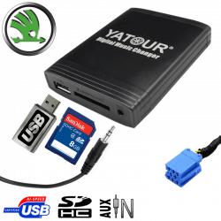 Interface USB MP3 SKODA - connecteur 8pin
