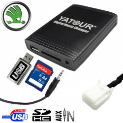Interface USB MP3 SKODA - connecteur 12pin