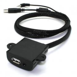 Prise d'intégration USB + AUX Plate