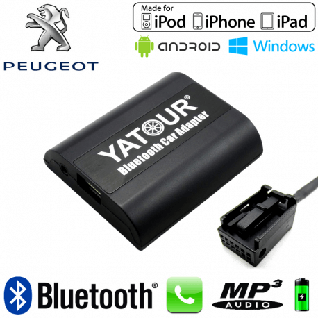 peugeot  interface kit mains libres bluetooth et streaming audio can
