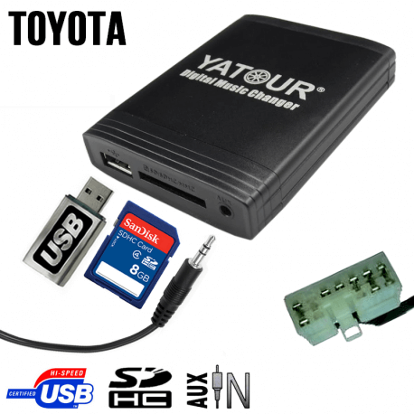 Interface USB MP3 TOYOTA 1
