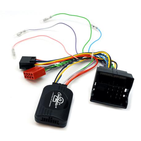 Interface commandes au volant - Porsche Cayenne de 2007 à 2010 avec connecteur Quadlock - sans système amplifié - CAN BUS