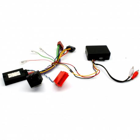Interface commandes au volant - Porsche Cayenne de 2002 à 2007 avec système amplifié par fibre optique - CAN BUS