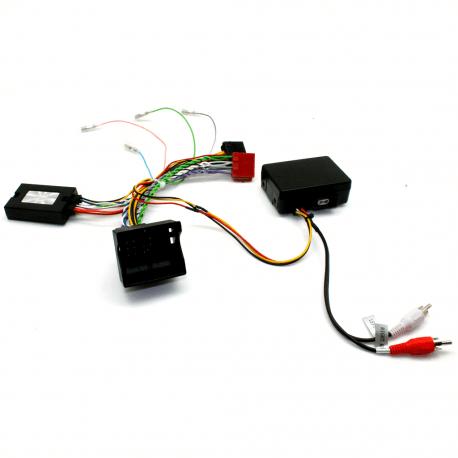 Interface commandes au volant - Porsche Cayenne de 2007 à 2008 avec système amplifié par fibre optique - CAN BUS