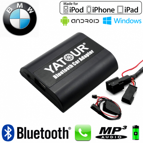 Interface Kit mains libres Bluetooth, streaming audio et recharge USB BMW DSP - chargeur CD + DSP