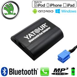 Interface Kit mains libres Bluetooth et streaming audio SKODA - connecteur 8pin