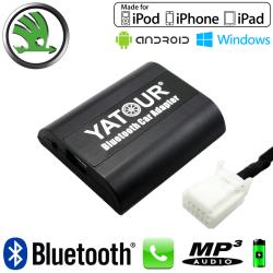Interface Kit mains libres Bluetooth et streaming audio SKODA - connecteur 12pin