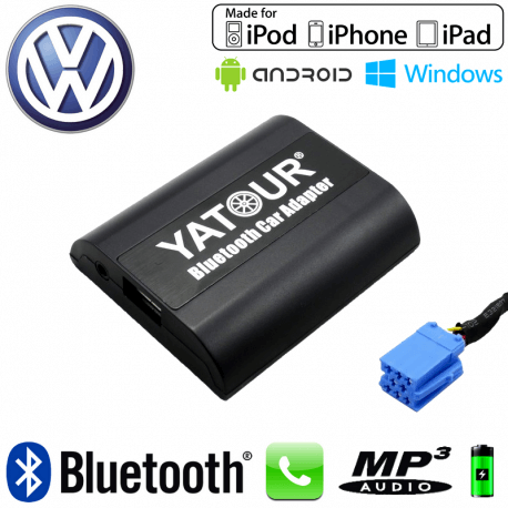 Interface Kit mains libres Bluetooth et streaming audio VOLKSWAGEN - connecteur 8pin