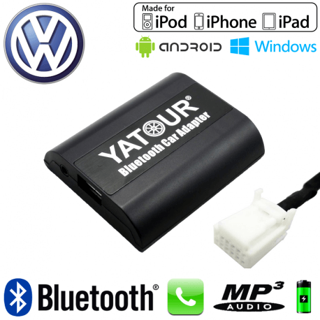 Interface Kit mains libres Bluetooth et streaming audio VOLKSWAGEN - connecteur 12pin