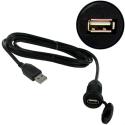 Prise d'intégration USB Ronde