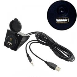 Prise d'intégration USB + AUX Ronde