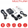 MULTI-LINK TOYOTA - Interface USB MP3, Kit mains libres, Streaming audio Bluetooth, Auxiliaire