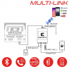 MULTI-LINK FIAT - Interface USB MP3, Kit mains libres, Streaming audio Bluetooth, Auxiliaire
