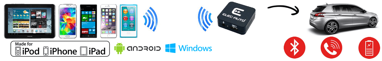 Interfaces Kit mains libres Bluetooth