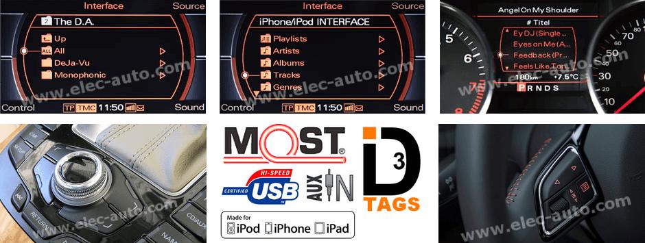 Affichage tags id3 sur écran d'origine