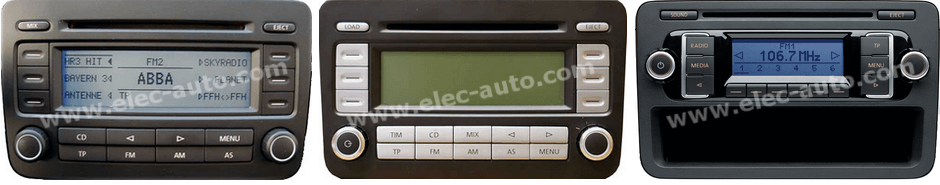 Autoradios RCD 210, RCD 300, RCD 500