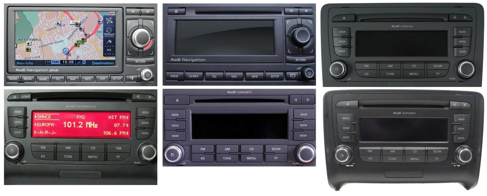 Autoradios compatibles Audi 12pin