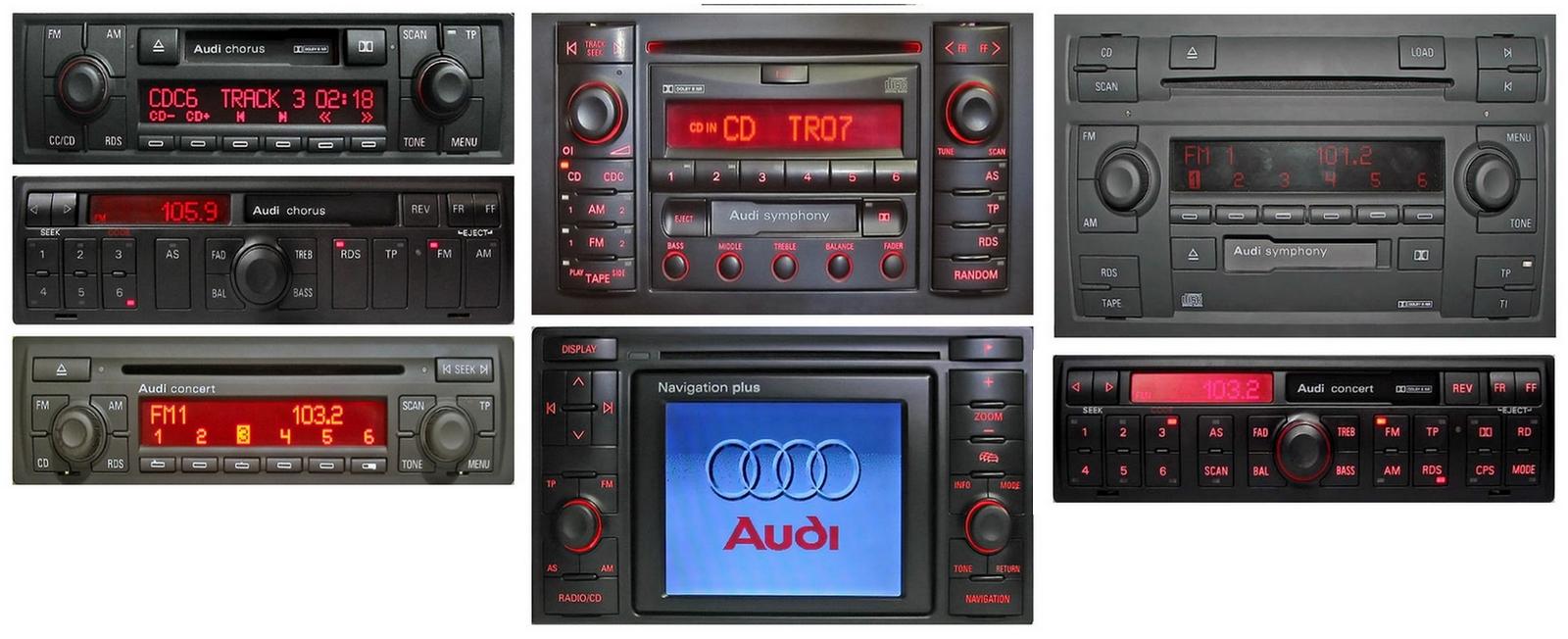 Autoradios compatibles Audi 8pin