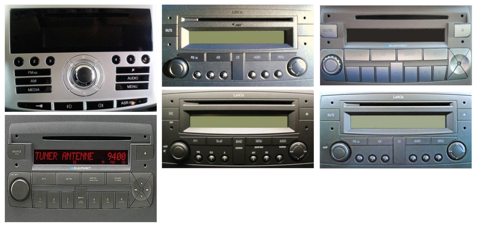 Autoradios compatibles Lancia