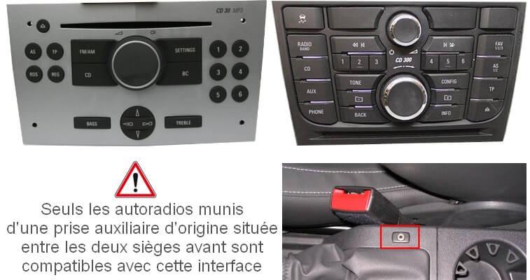 Autoradios compatibles OPEL
