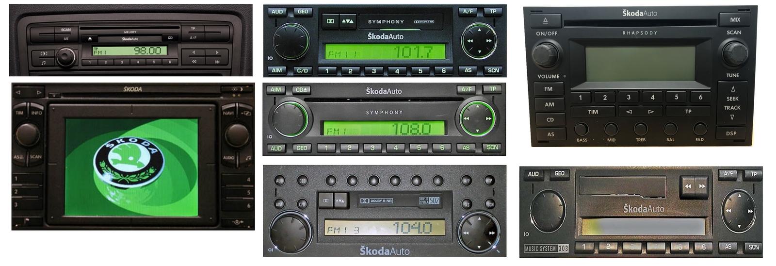 Autoradios compatibles Skoda 8pin