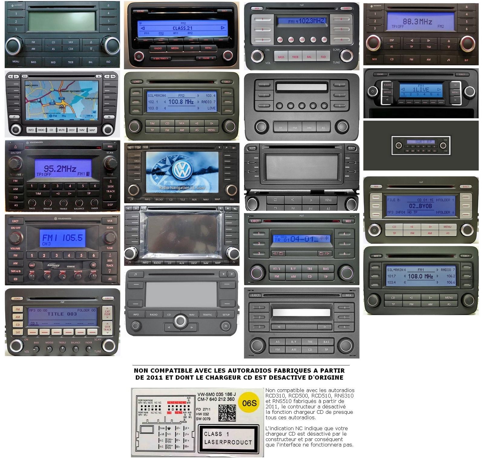 Autoradios compatibles Skoda 12pin