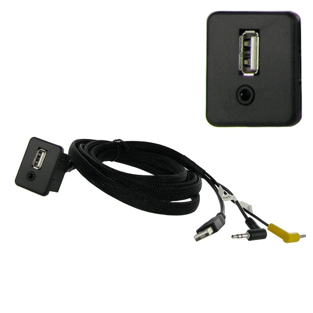 Prise d'intégration Carrée USB + Aux