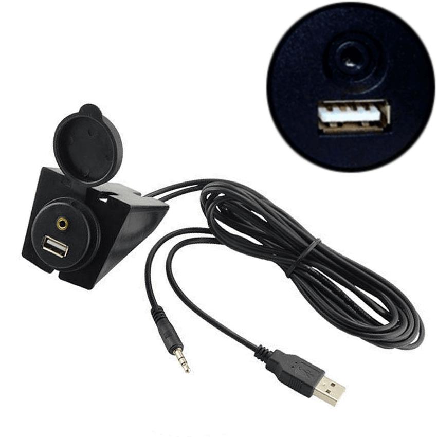 Prise d'intégration Ronde USB + Auxiliaire
